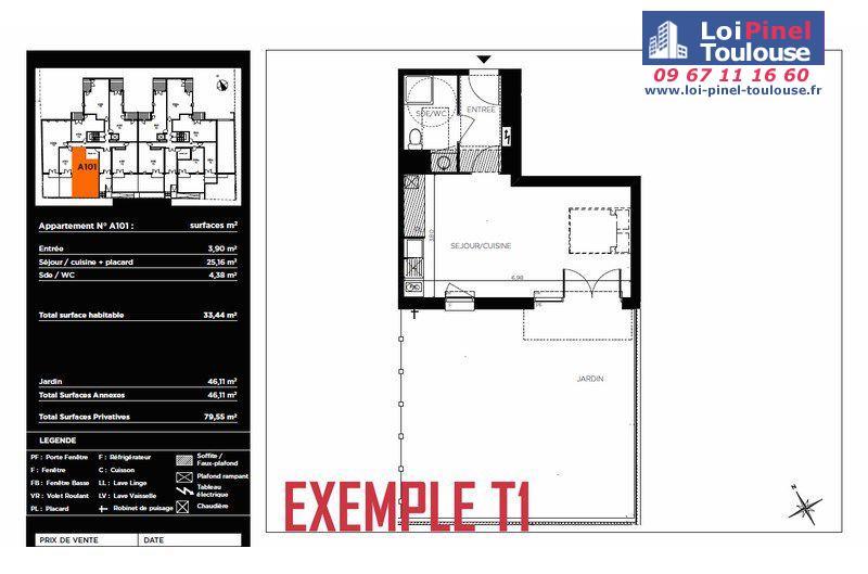 Appartements neufs toulouse t1 t2 t3 loi pinel toulouse - Garage chateau de l hers toulouse ...