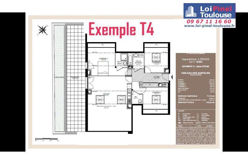 Appartements neufs castelginest t1 t2 t3 t4 loi for Appartement neuf bordeaux loi pinel