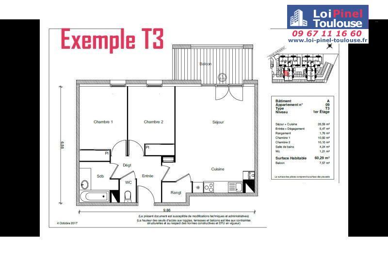 Appartements neufs fenouillet t2 t3 loi pinel toulouse for Appartement neuf bordeaux loi pinel
