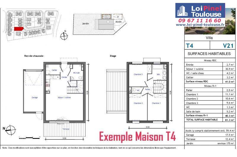 Maisons neuves à Aussonne