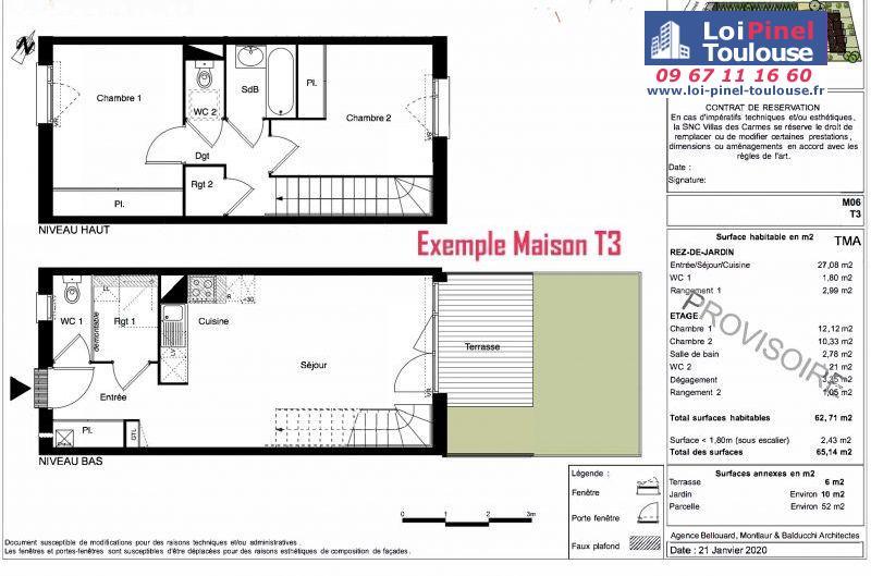 Maisons neuves à Toulouse