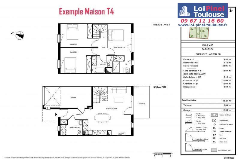 Maisons neuves à Toulouse Lalande