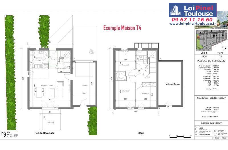 Maisons neuves à Launaguet